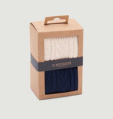 Pack de 2 paires de chaussettes montagne