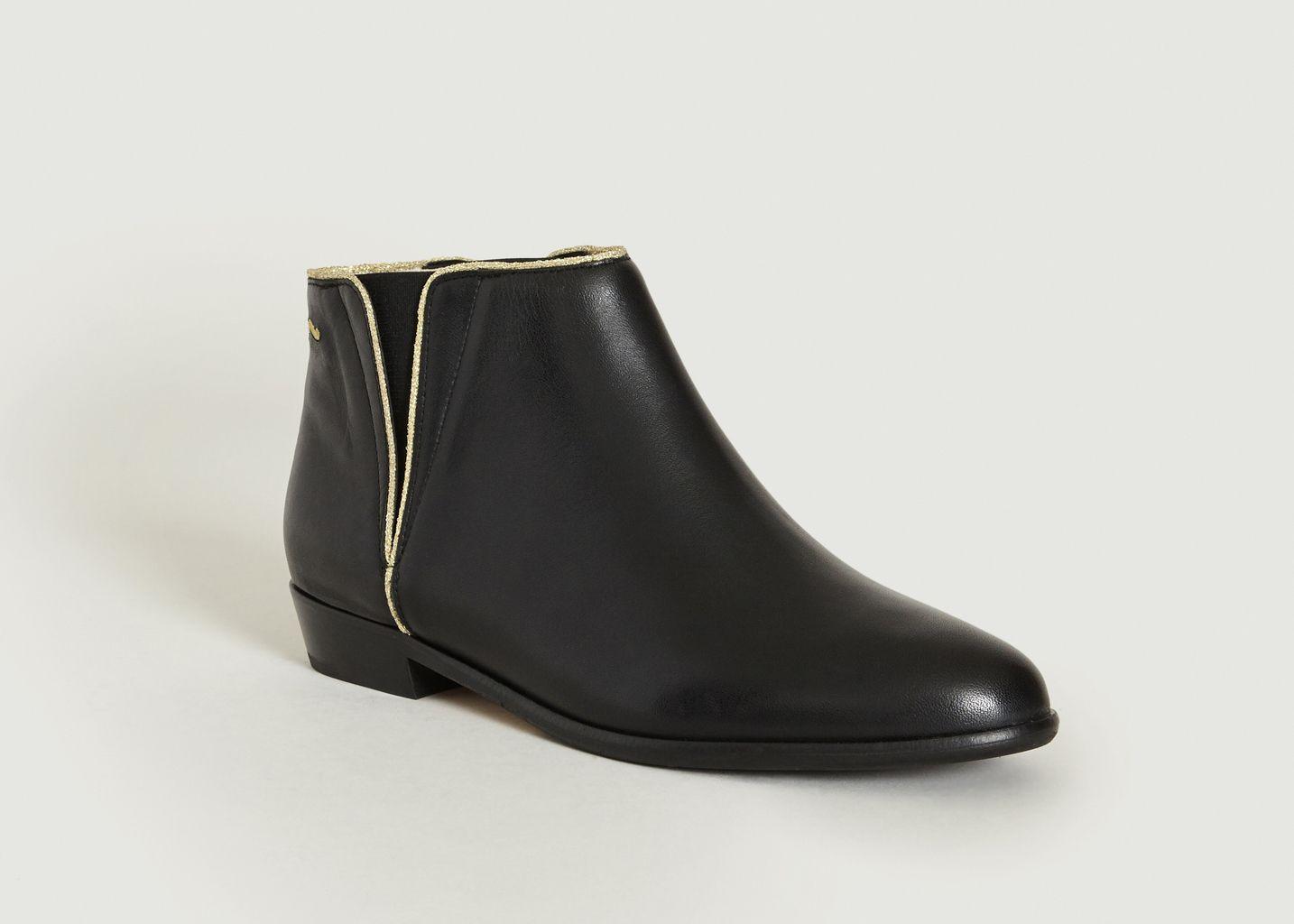 957097e52fe Chelsea Boots Jeanne Noir Monsieur Moustache
