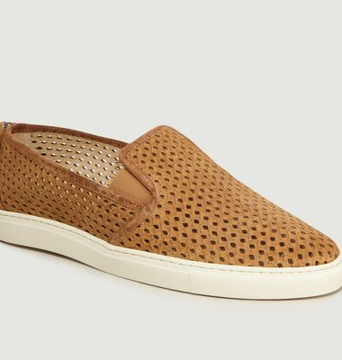 Slip-On En Cuir Suédé Perforé Auguste