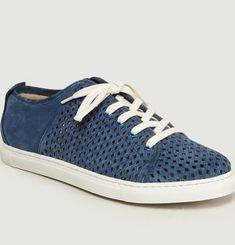Sneakers En Cuir Suédé Perforé René