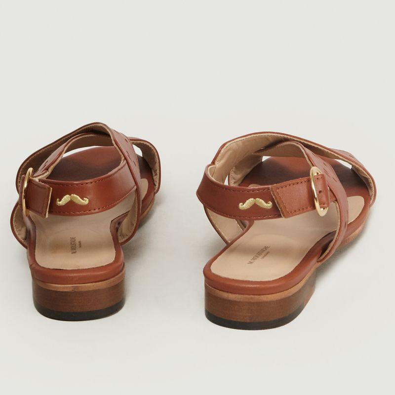 Joséphine H M.Moustache : Sandales pour femme en cuir cognac