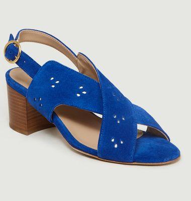 Sandales En Cuir Suédé Joséphine M