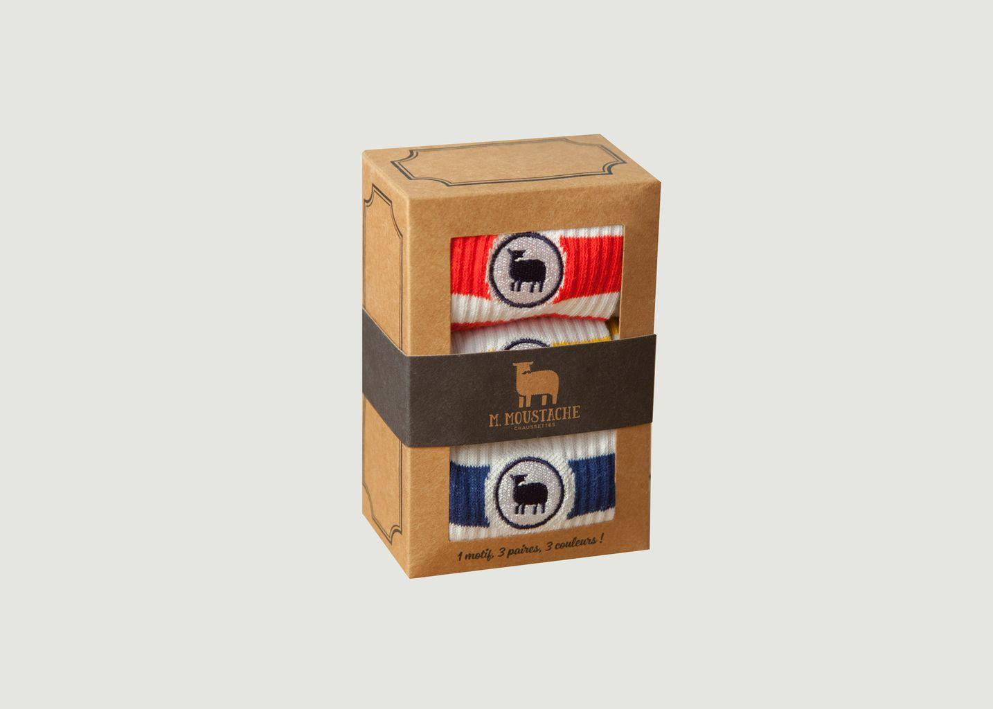Pack de 3 Chaussettes Sport  - M. Moustache