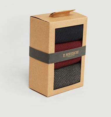 Pack 3 Chaussettes Gaufré