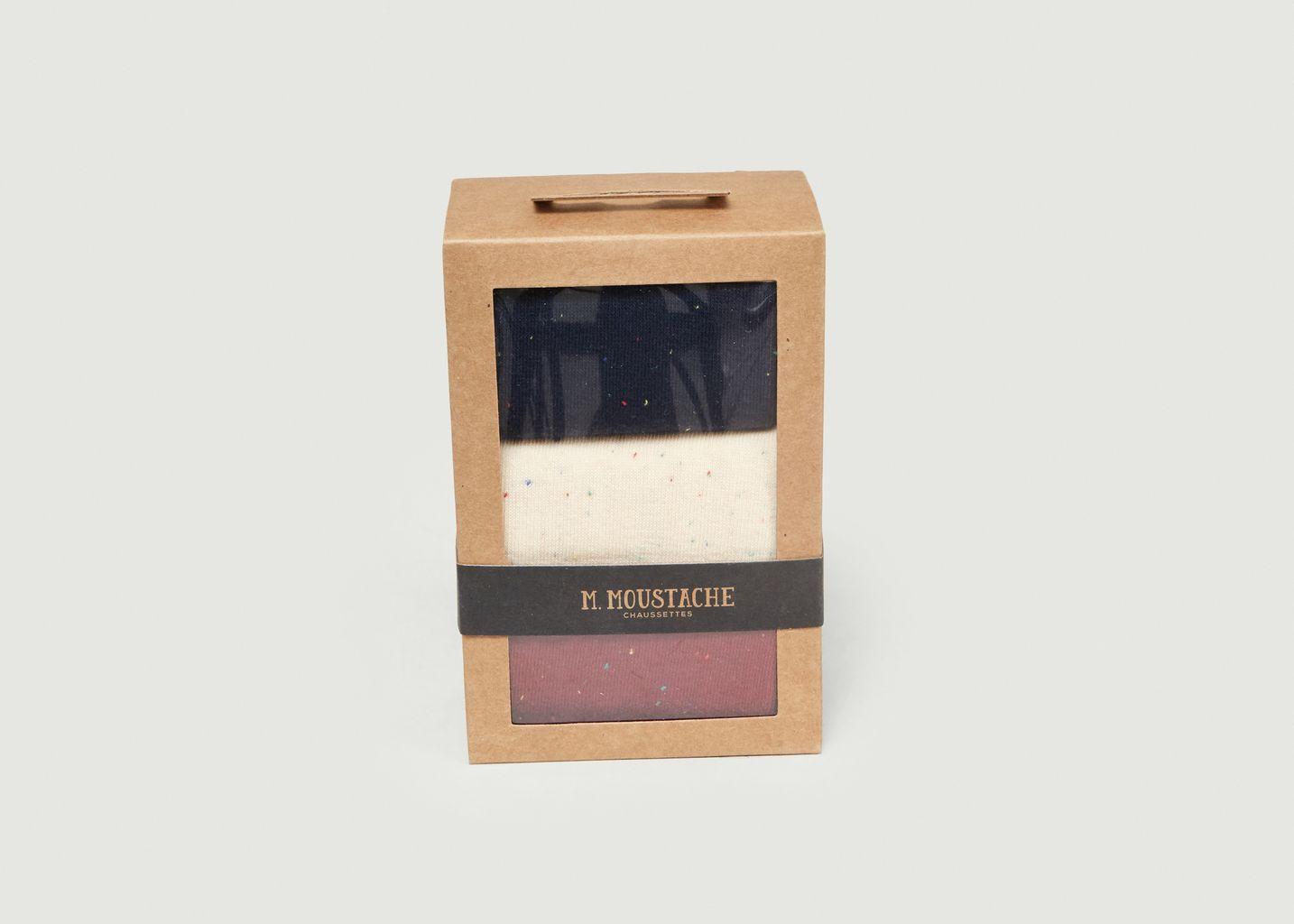 Pack de 3 Chaussettes - M. Moustache