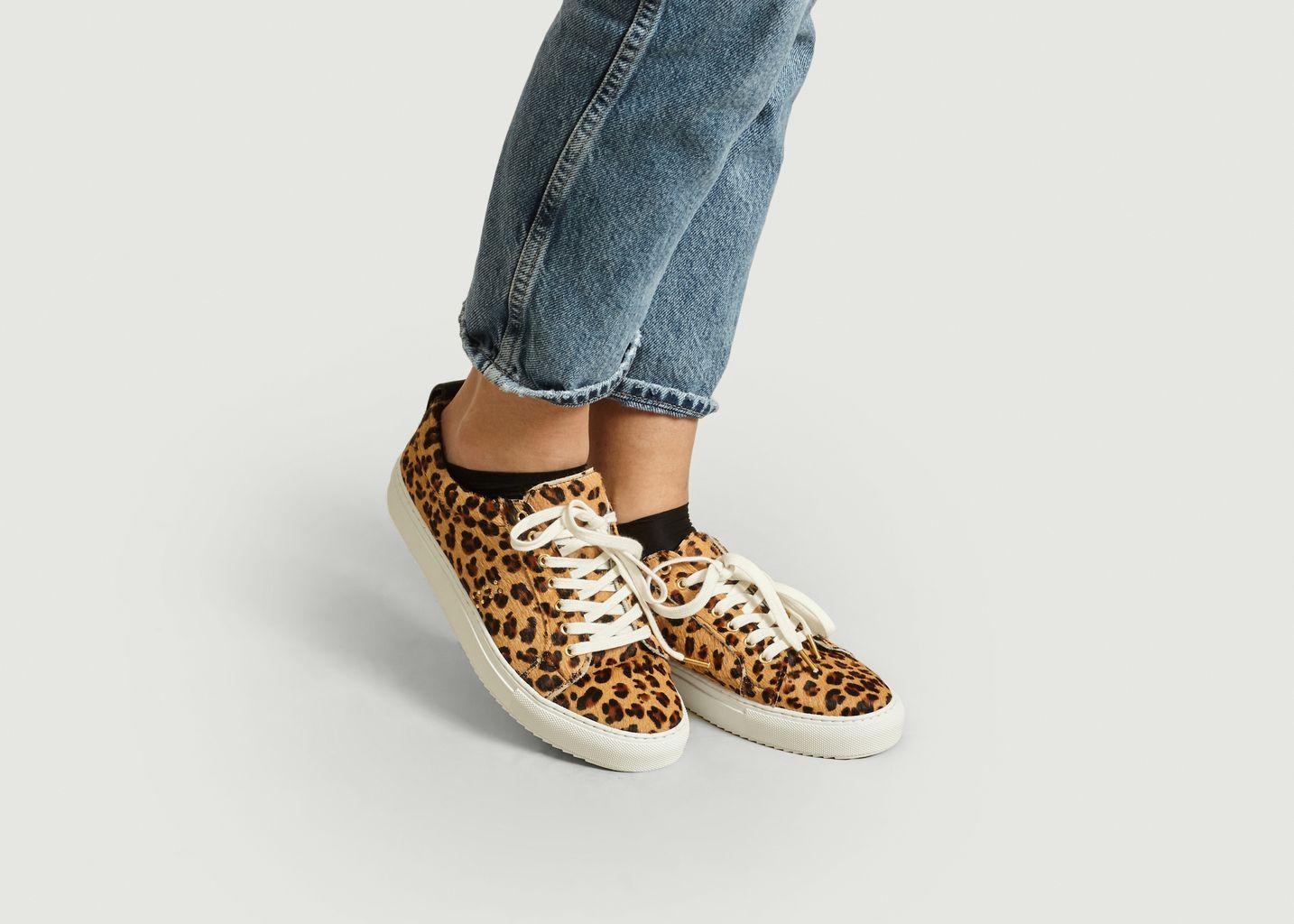 Sneakers Léopard Brigitte - M. Moustache