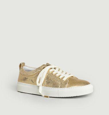Sneakers En Cuir Craquelé Brigitte