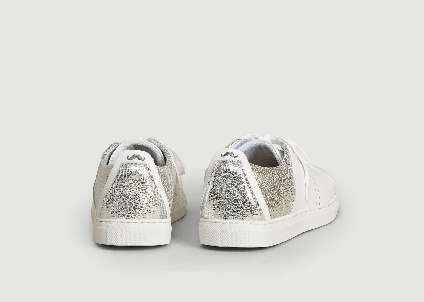 Sneakers En Cuir Craquelé Renée - M. Moustache