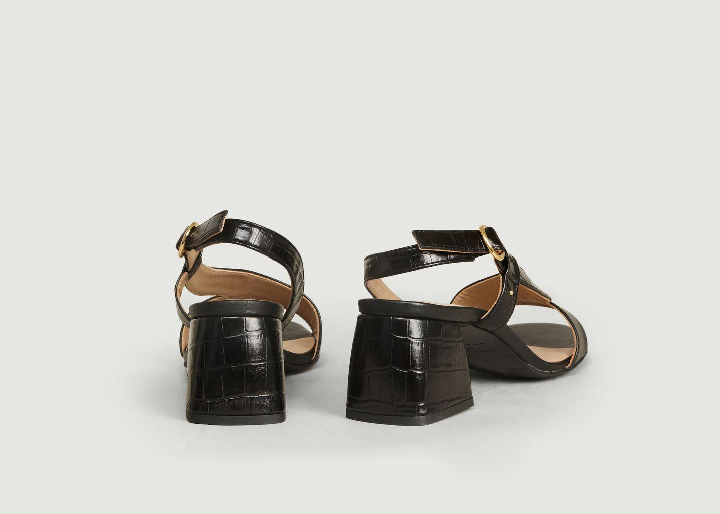 Sandales En Cuir Effet Croco Delphine - M. Moustache