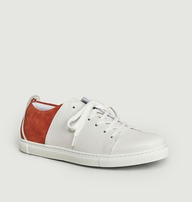 René perforated leather sneakers