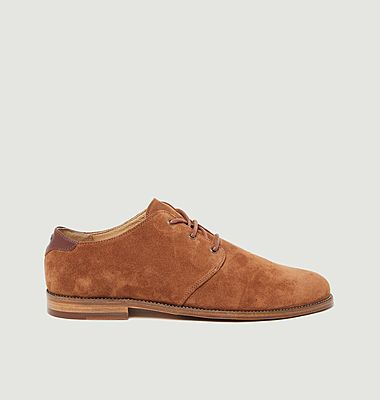 Alphonse suede leather derbies