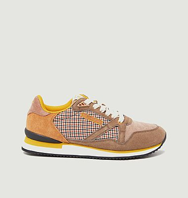 Andrée suede leather and fabric running sneakers