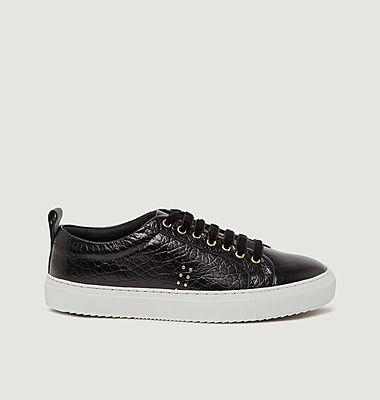 Sneakers en cuir façon croco Brigitte