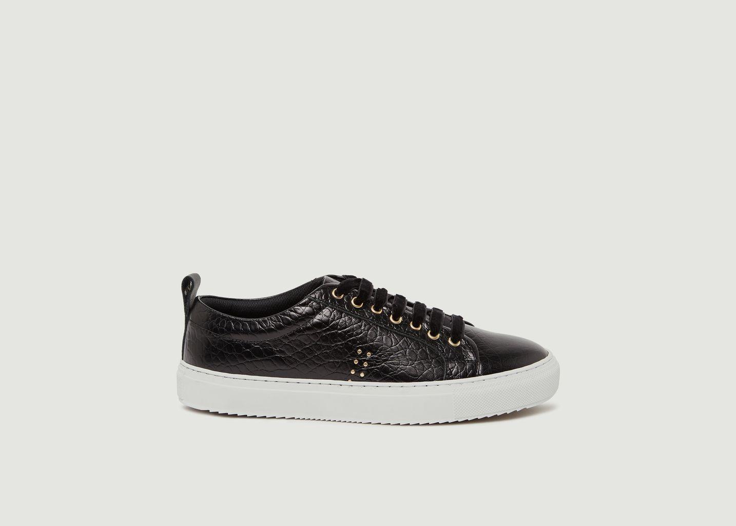 Sneakers en cuir façon croco Brigitte - M. Moustache