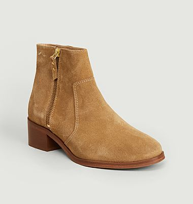 Coline suede leather boots
