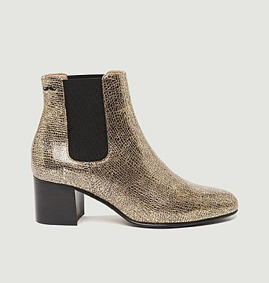Camille M. grained leather boots