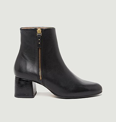 Bottines en cuir Gisèle