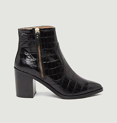 Céleste croco effect leather boots