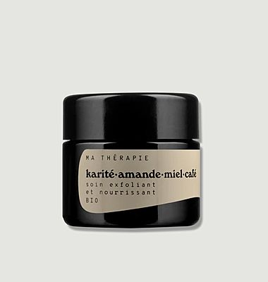 Exfoliating and nourishing care Karité Amande Café