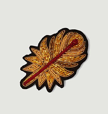 Phoenix feather brooch