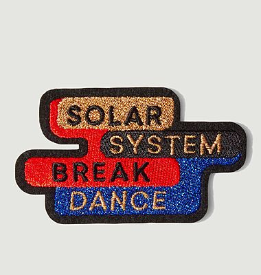 Écusson lettrage Solar System Break Dance