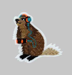 Ecusson Marmotte