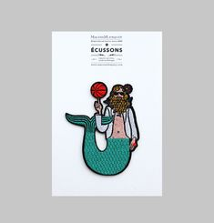 Ecusson Homme Sirene