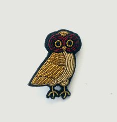 Greek Owl Brooch