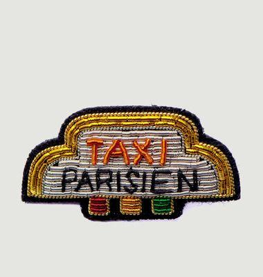 Broche Brodée Taxi Parisien