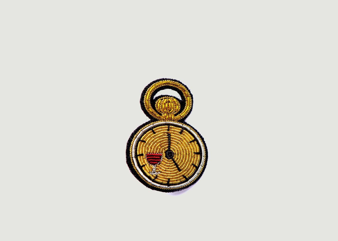 Broche Brodée Horloge - Macon & Lesquoy