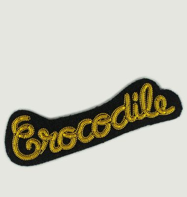 Broche Lettrage Crocodile