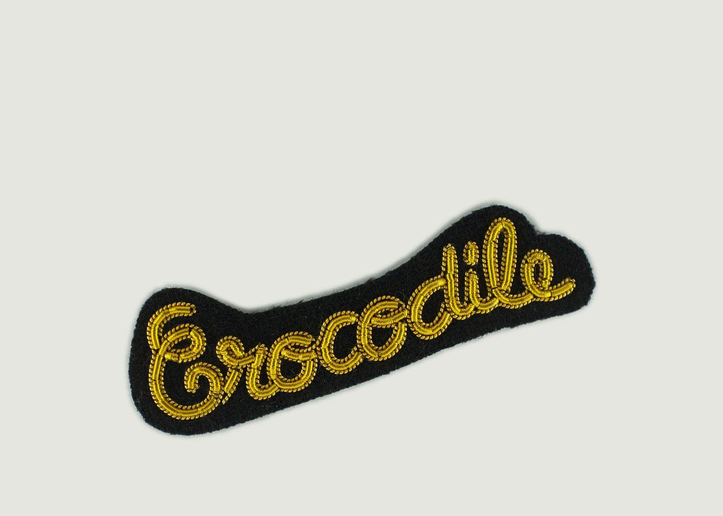 Broche Lettrage Crocodile - Macon & Lesquoy