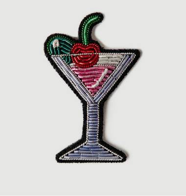 Cocktail Beaded Brooch