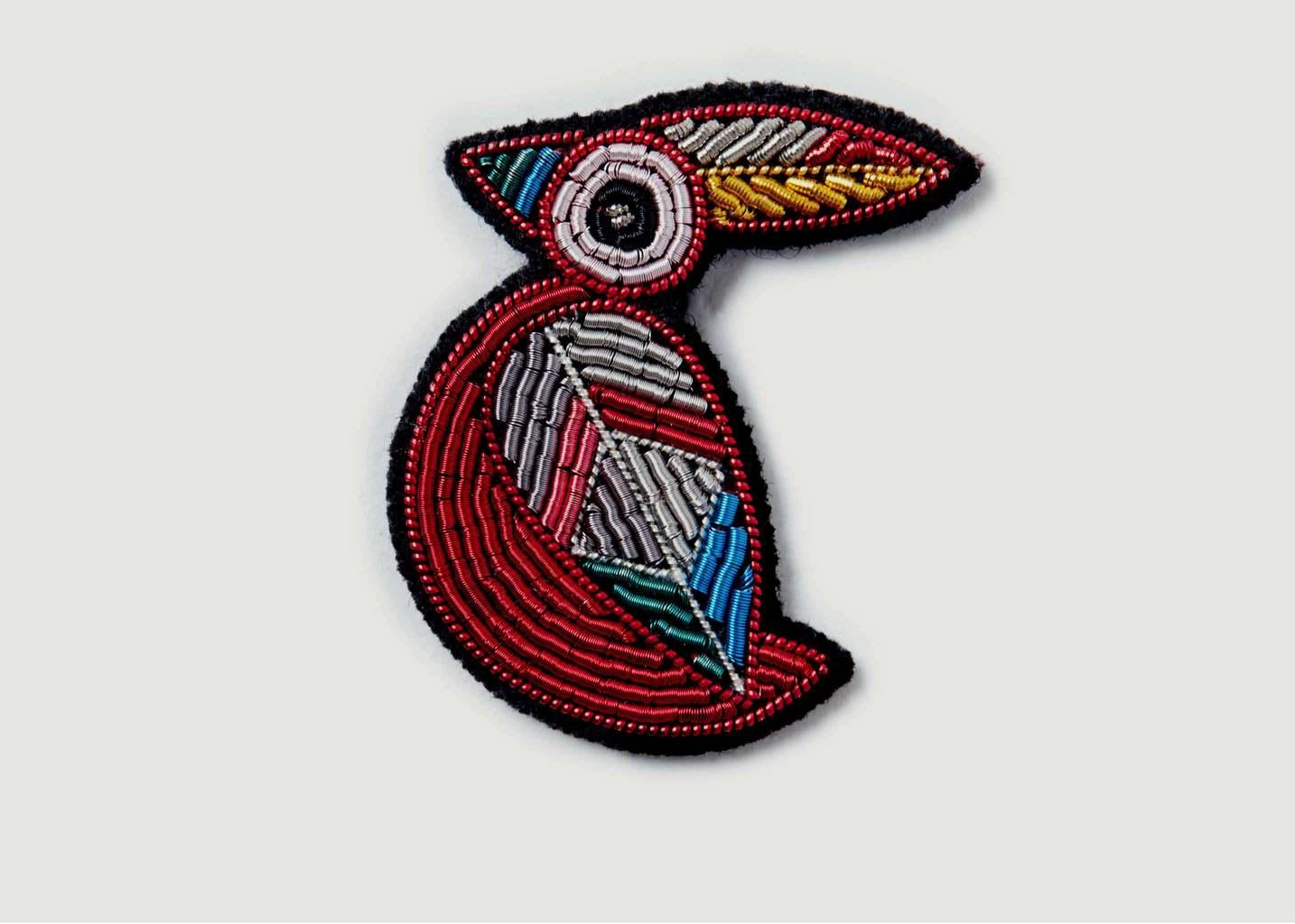 Broche Avec Perles Rouge Gorge - Macon & Lesquoy