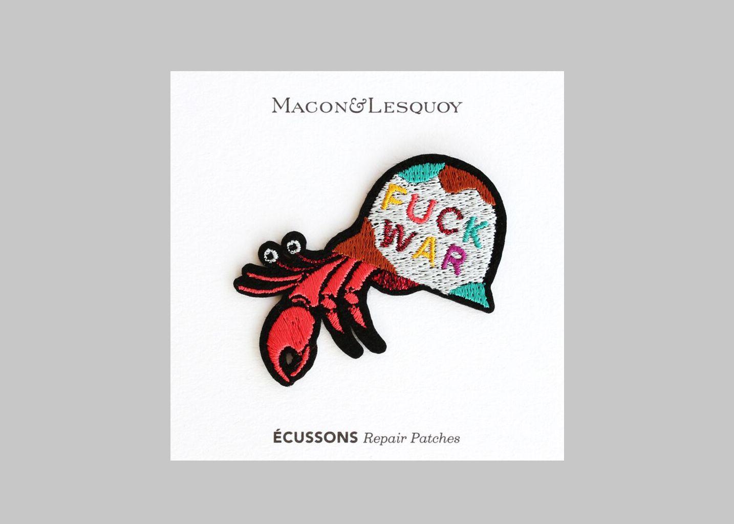 Ecusson Bernard L'Ermite - Macon & Lesquoy