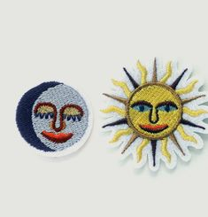 Sun & Moon Iron-On Patches
