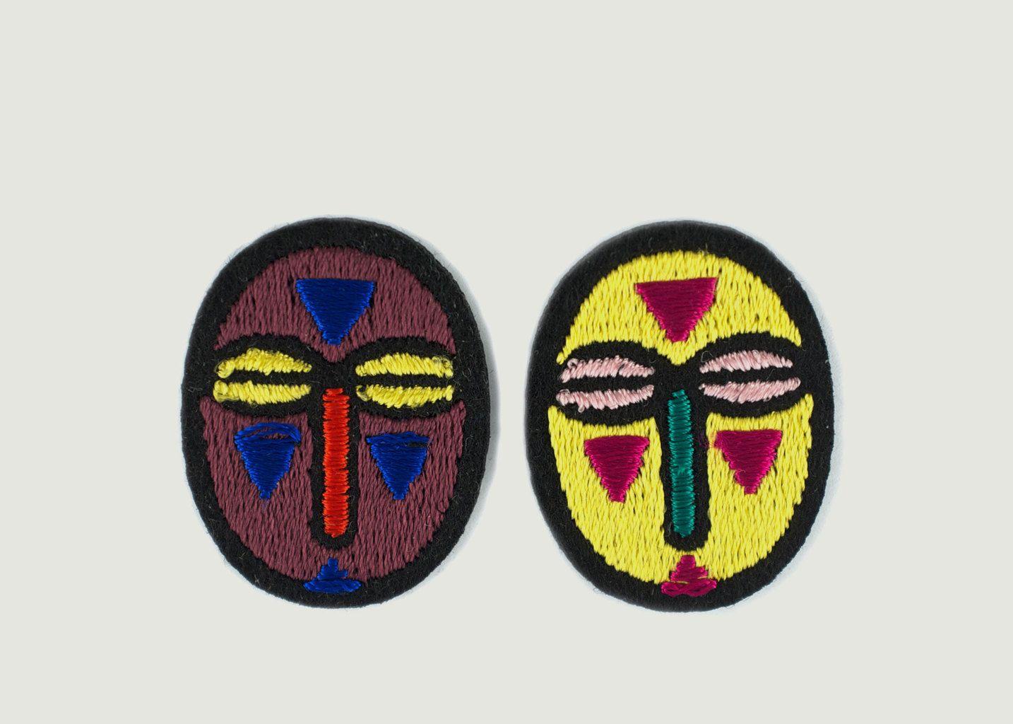 Lot De 2 Mini Écussons Masques - Macon & Lesquoy