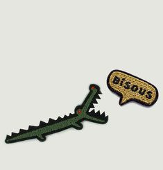 Lot De 2 Mini Écussons Croco Bisou