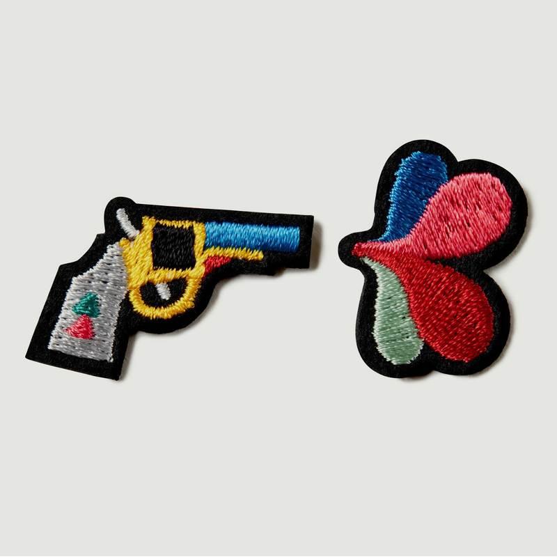 Lot De 2 Écussons Gun + Fleur - Macon & Lesquoy
