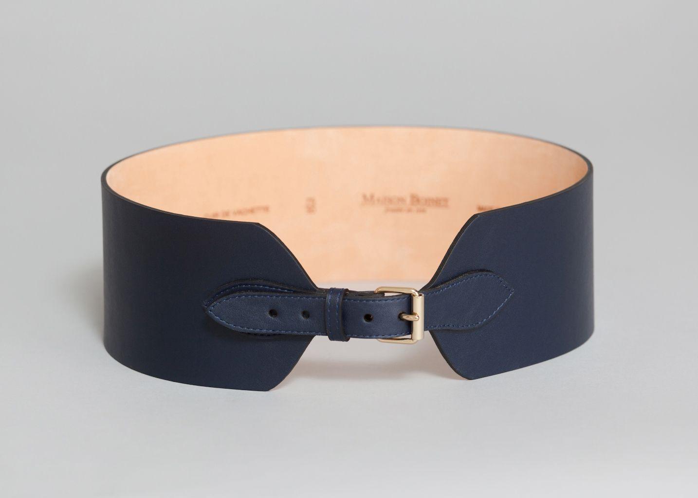Ceinture Corset Bleu Marine Maison Boinet   L Exception fd0e17c6acd