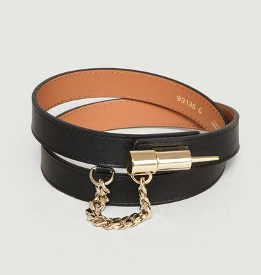 Locket Leather Belt