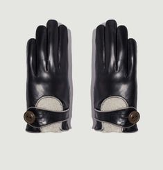 Calfskin Leather Driving Gloves
