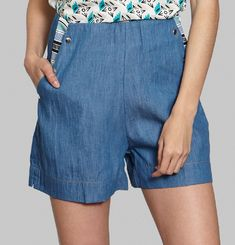 Garden Denim Shorts