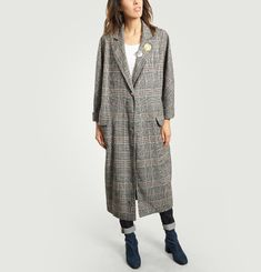 Long Manteau James en Tweed