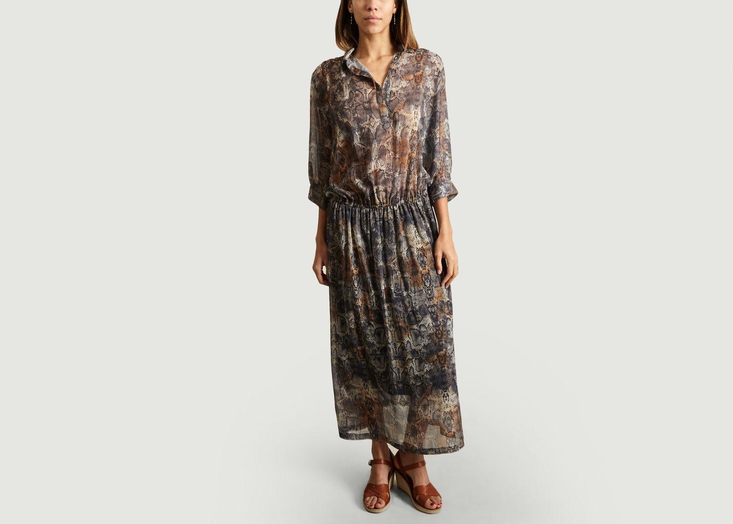 Robe Print Serpent Salma - Maison Olga