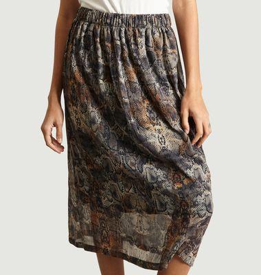 Samira Snakeskin Skirt