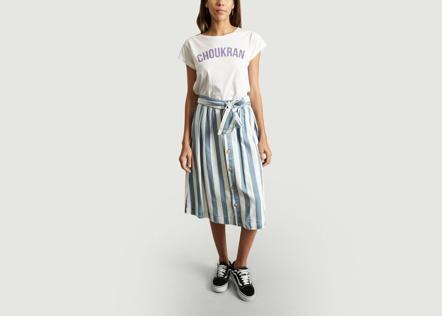 T-Shirt A Lettrage Choukran - Maison Olga