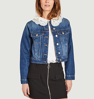 Veste en jean avec col amovible Brenda