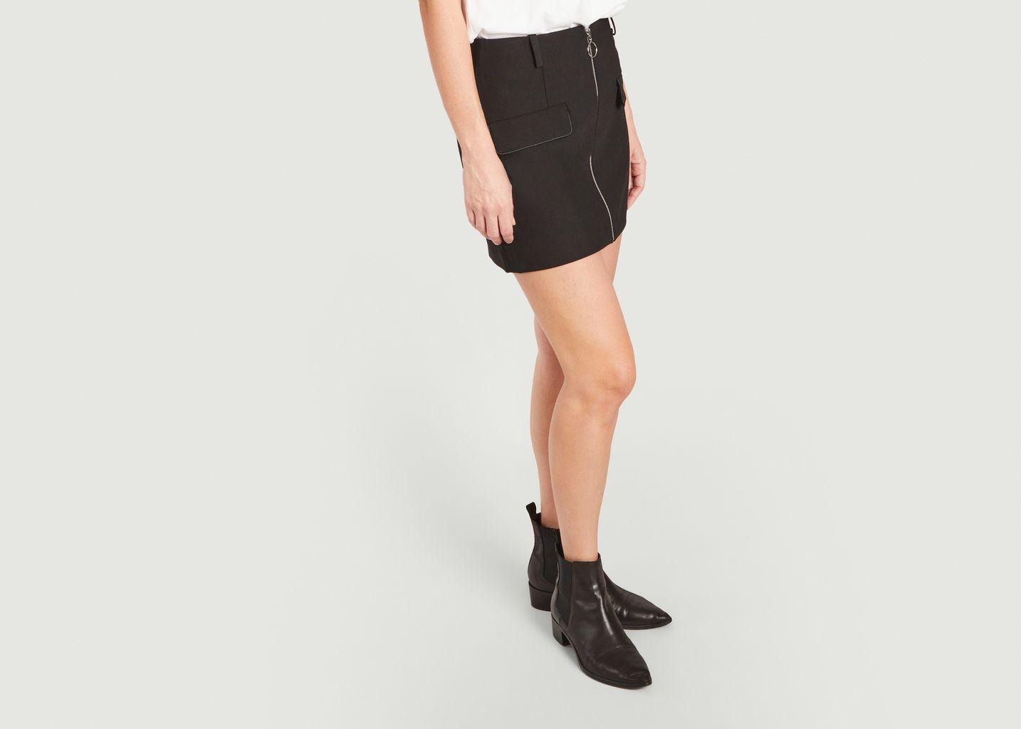 Jupe courte zippée Jeli - Maje