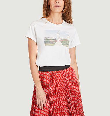 T-shirt imprimé en coton bio Tuileries